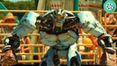 Робот Эмбуш против Быка Чёрного Грома. Живая сталь 2011 год.