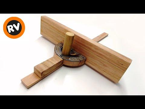 ✔️ EFICAZ ➡️ GUIA para CORTES en ANGULO INGLETE Accesorio sierra de mesa MITER GAUGE TABLE SAW