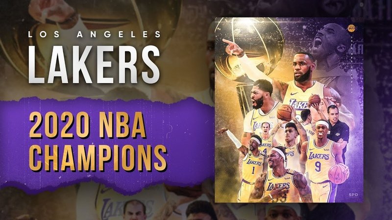 2020 NBA Champion Los Angeles Lakers Photoshop speed art SPD