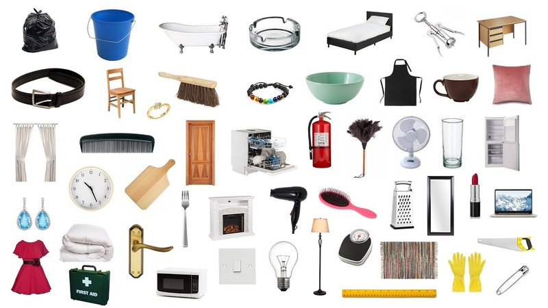 English Vocabulary 100 HOUSEHOLD ITEMS